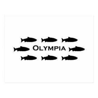 Olympia Washington Salmon Logo Postcard