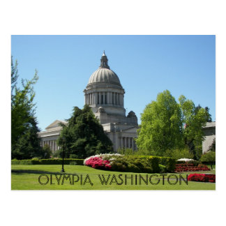 Olympia, Washington State Travel Postcard