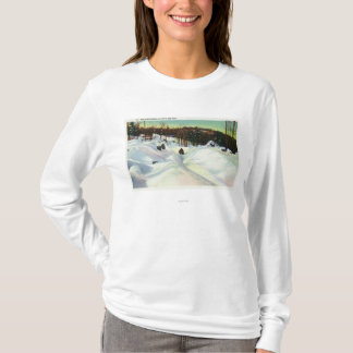 Olympic Bobsled Run View on Mt. Van Hoevenberg T-Shirt