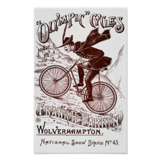 Olympic Cycles Vintage Poster