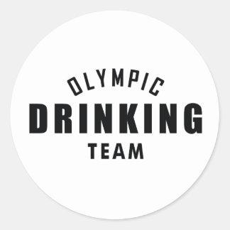 Olympic Drinking Team Classic Round Sticker