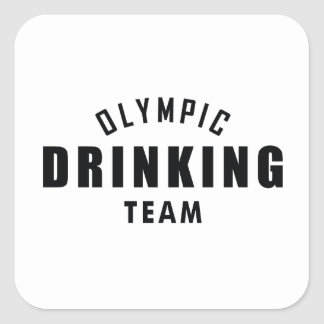 Olympic Drinking Team Square Sticker