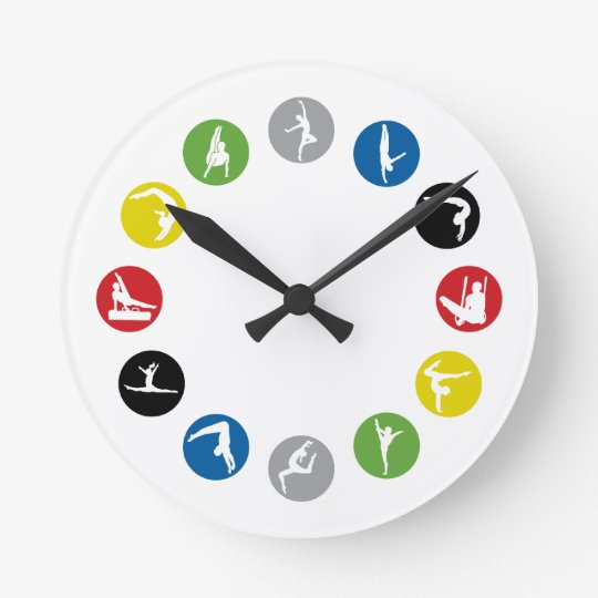 Olympic Gymnastics Wall Clock