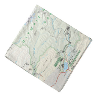 Olympic map bandana