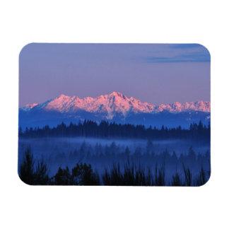 Olympic Mountains at Sunrise Rectangular Photo Magnet