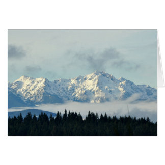 Olympic Mountains in Washington State Card