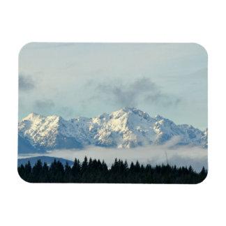 Olympic Mountains in Washington State Rectangular Photo Magnet