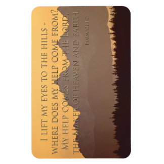 olympic mountains with psalm 121:1-2 magnet