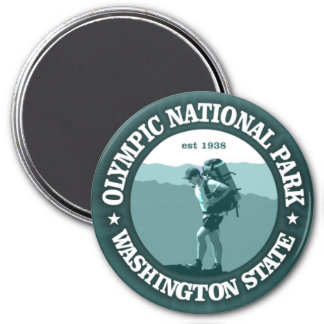 Olympic National Park 3 Inch Round Magnet