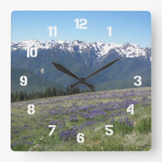 Olympic National Park Photo Square Wall Clock