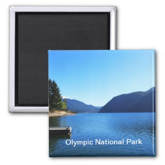 Olympic National Park, Seattle, U.S.A. Square Magnet