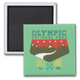 Olympic National Park Square Magnet