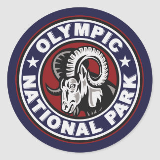 Olympic Ram Circle Classic Round Sticker
