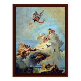 Olympus By Tiepolo Giovanni Battista Postcard