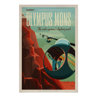 Olympus Mons, Mars Travel Poster