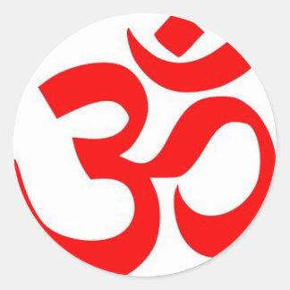 Om (ॐ) - Hindu and Buddhist Symbol Round Sticker