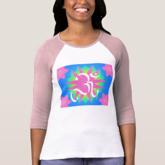 OM and flower - T-shirt