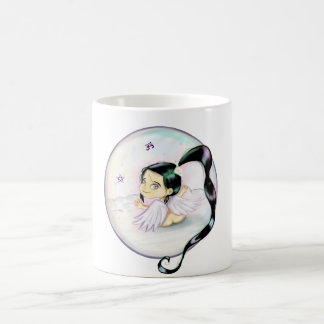 Om and pentacle angel reiki protection design coffee mug