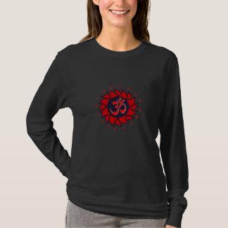 Om and Red Pinwheel - Yoga Shirt