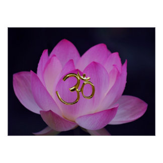OM and the lotus flower Poster