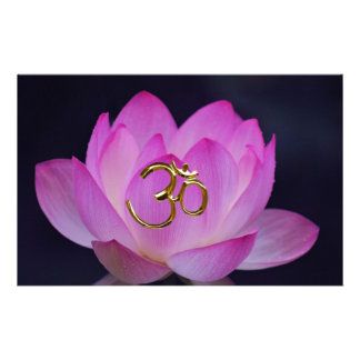 OM and the lotus flower Stationery