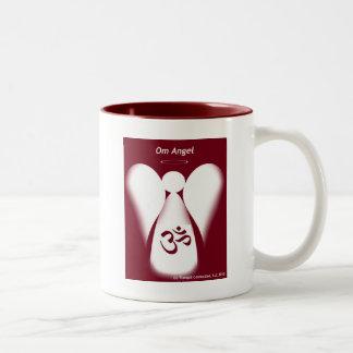 Om Angel Two-Tone Coffee Mug
