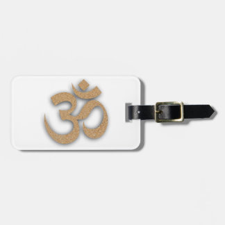 OM At The Beach Yoga Luggage Tag