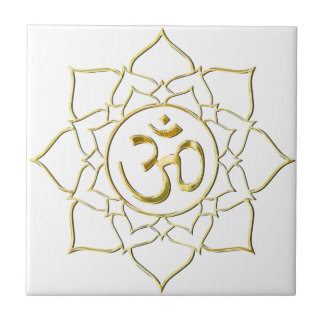 OM AUM ॐ Lotus Tile