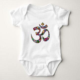 Om Aum Namaste Yoga Symbol Baby Bodysuit