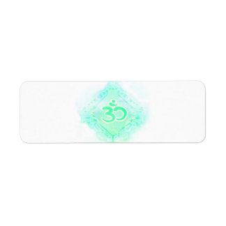 om aum symbol Return Address Label