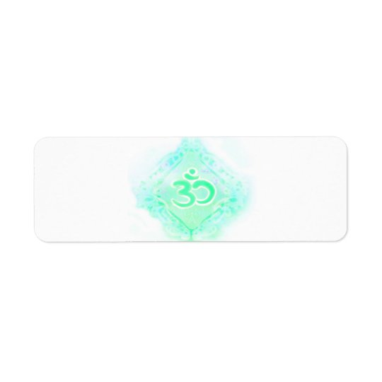 om aum symbol Return Address Label