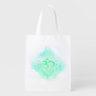 om aum symbol Reusable Grocery Bag