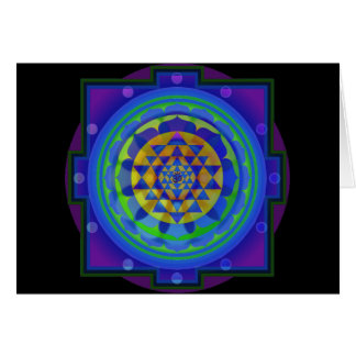 Om (AUM) Yantra mandala greeting card