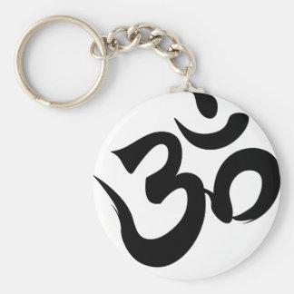 om basic round button keychain