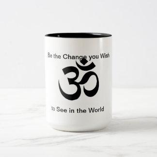 Om Be the Change Mug