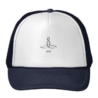 Om - Black Fancy style Trucker Hat