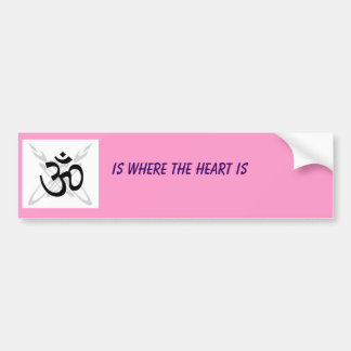 om buddhist, IS WHERE THE HEART IS Bumper Sticker
