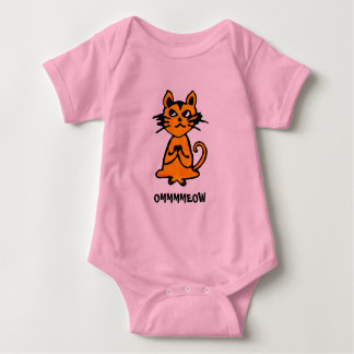 Om Cat - Baby Yoga Clothes Baby Bodysuit