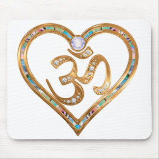 OM centered heart pad Mouse Pad