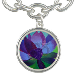 OM Charm in a Lotus Flower