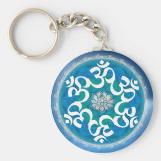 Om Circle Snowflake Keychain