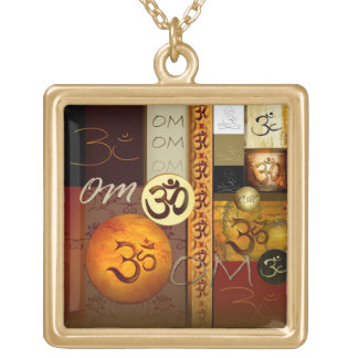 Om Collages beautiful necklace