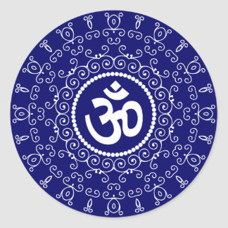 Om Design Classic Round Sticker