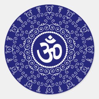 Om Design Round Sticker