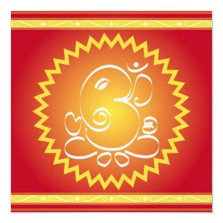 Om Ganesha with yellow star Card