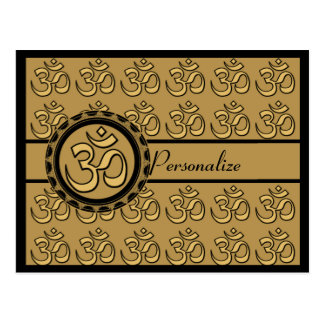 Om Gold Postcard Personalize