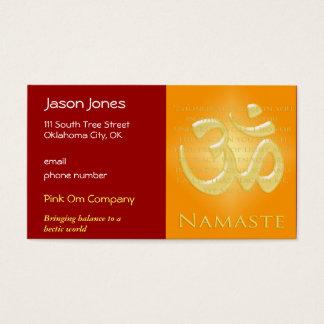 Om in Oranges & Gold - Namaste Business Card