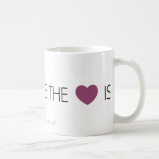 Om Is Where the Heart Is Mug