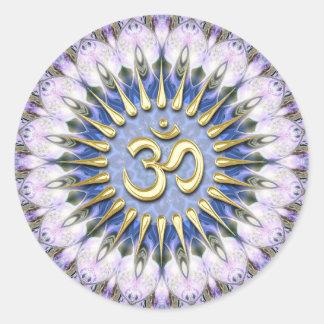 OM Lavender Love Energy Spiritual Healing Sticker
