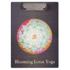 Om Lotus Floral Mandala Wood Clipboard